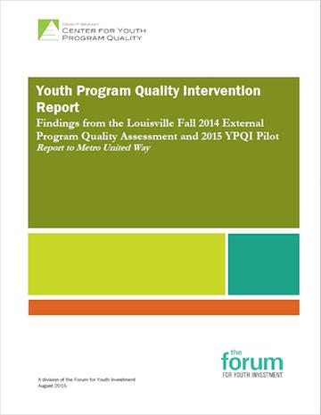Weikart 2015 YPQI Pilot Report